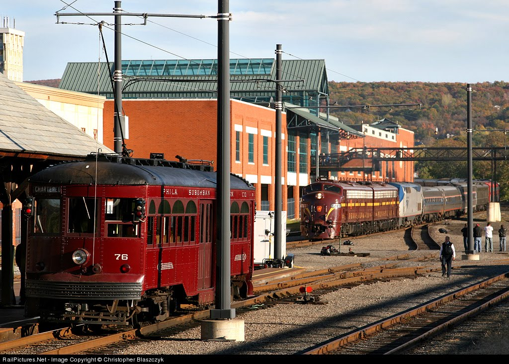 The Trolley Museum and Steamtown in the Background
