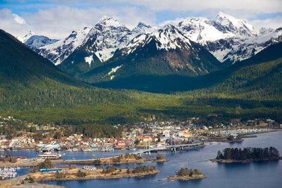 The town of Sitka, Alaska.