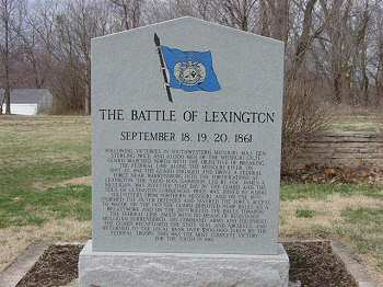 Battle of Lexington Monument commemorates the battle that began on September 18, 1861.