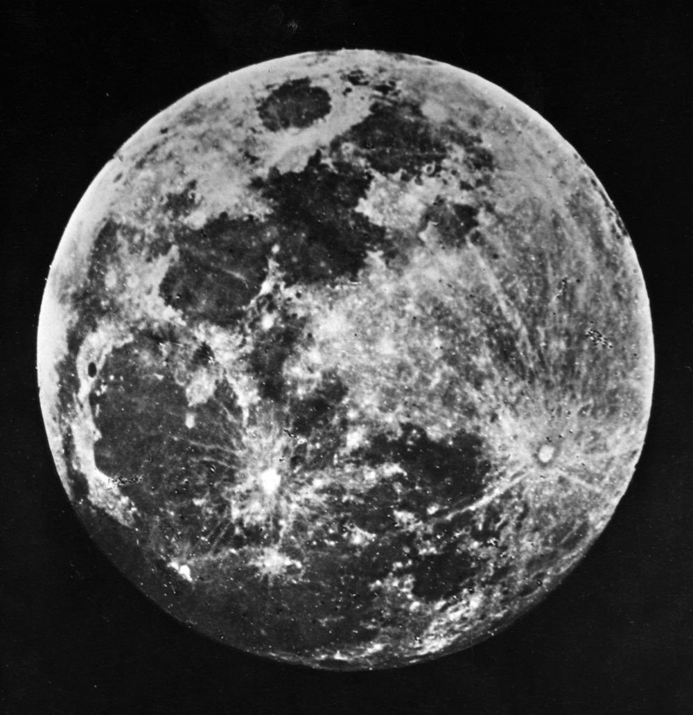 One of the first photographs of the Moon taken by John William Draper - 1840