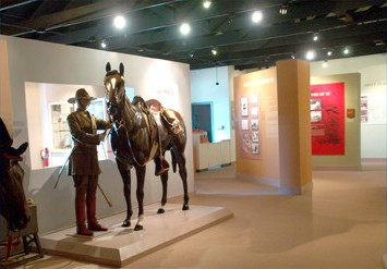 One of the exhibits, including authentic uniforms, saddles, and tack from the early 1900s.