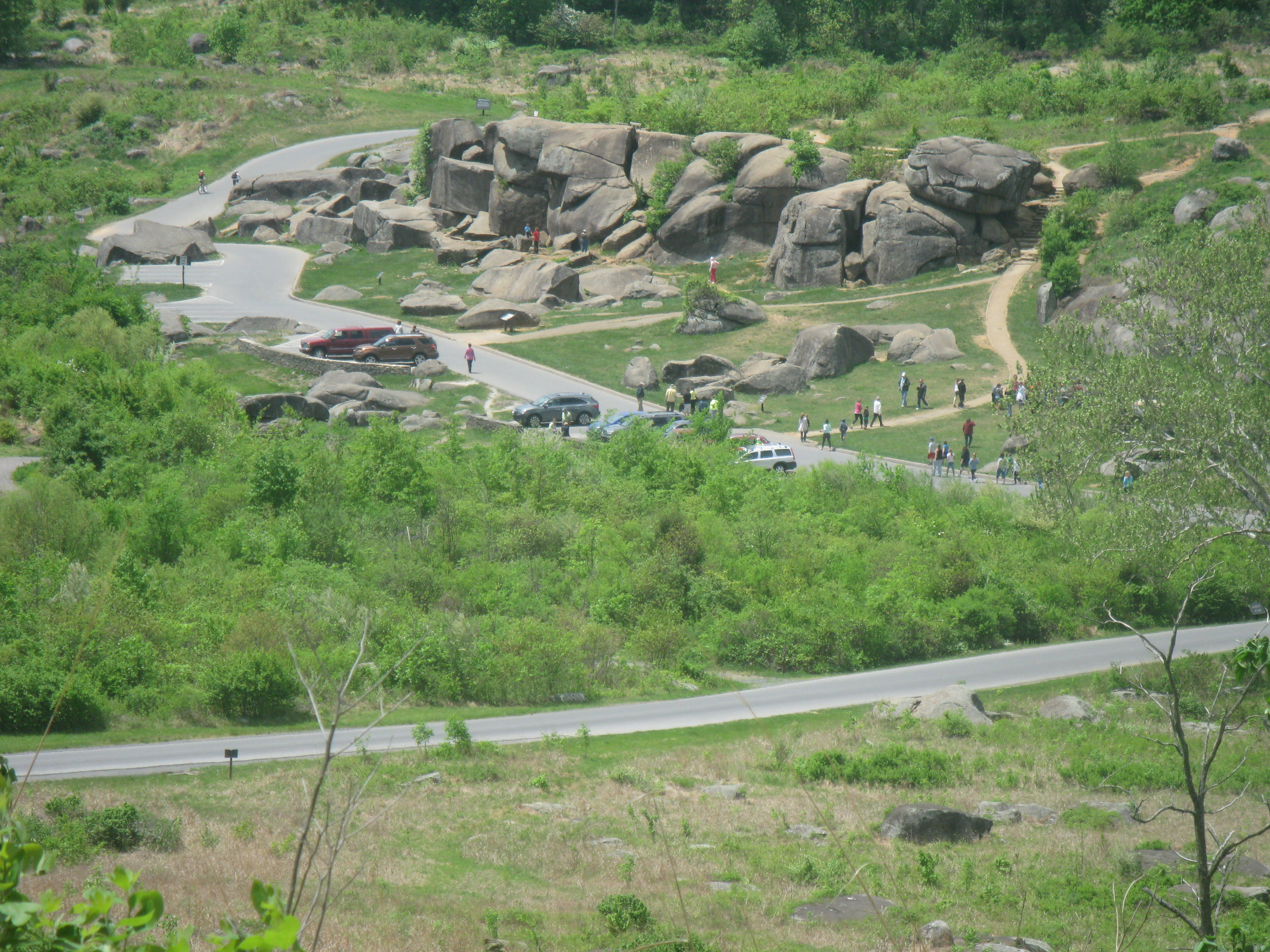 looking down on Devil's Den from Little Round Top