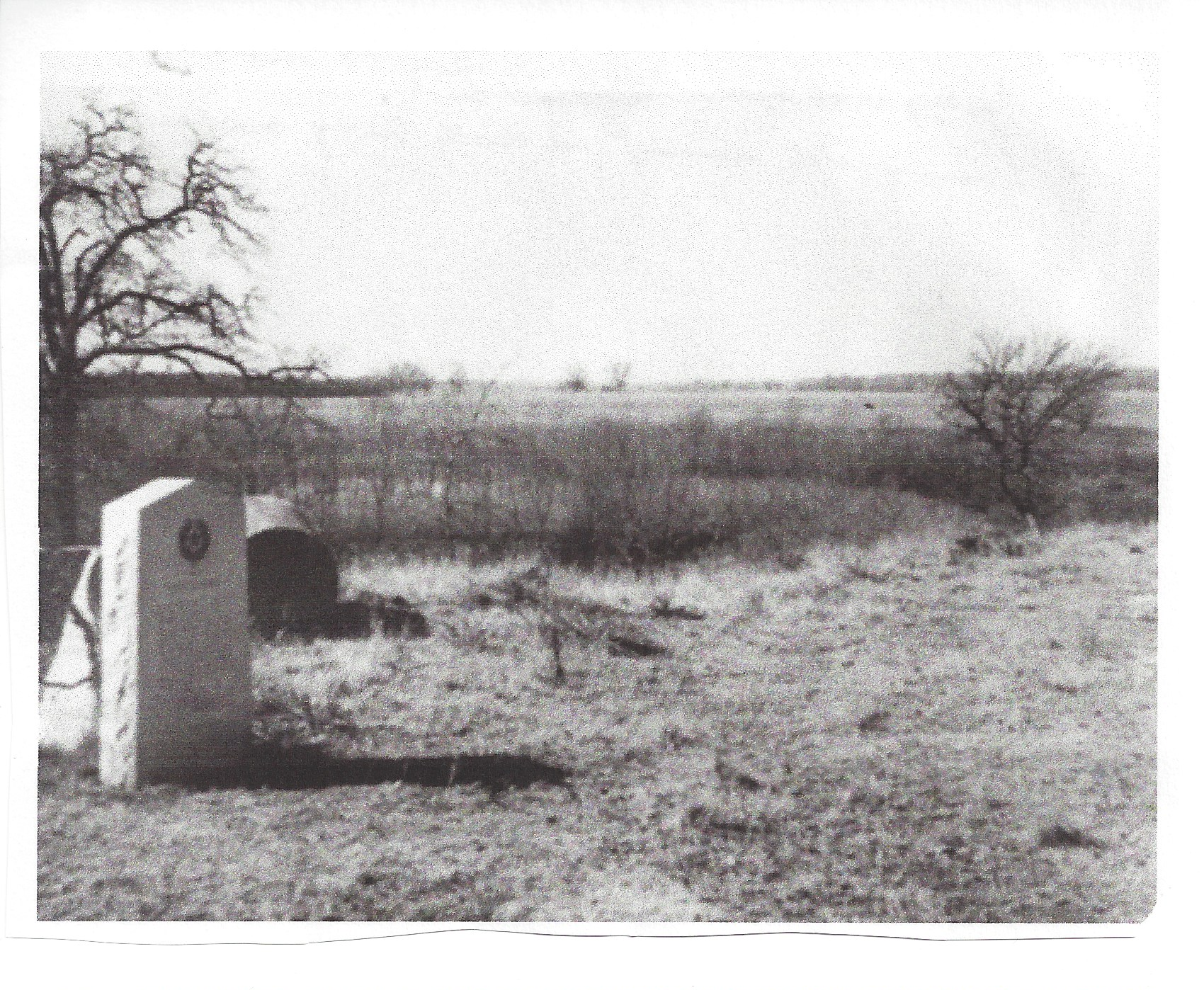 Site of Bird's Fort marker  placed during the Texas Centennial in 1936