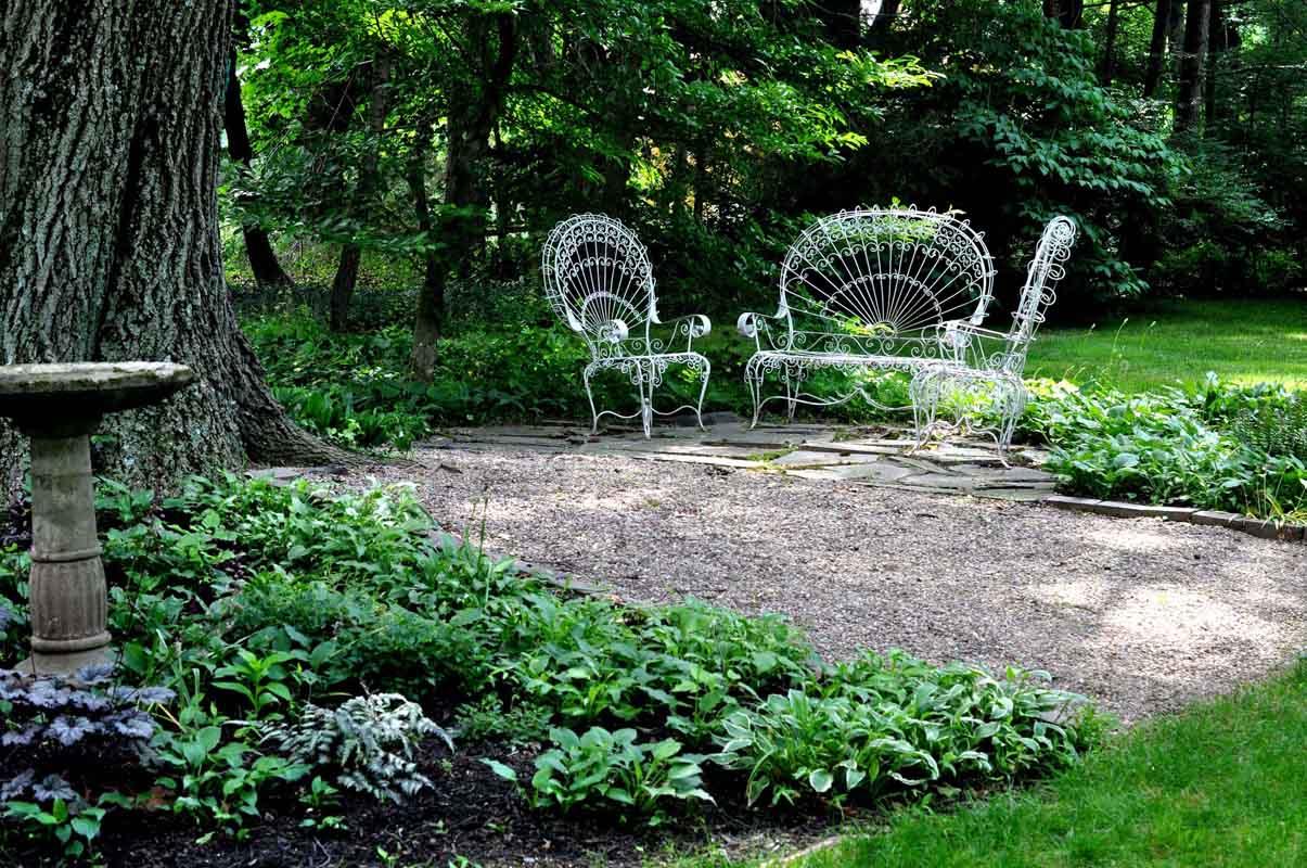 Part of the gardens surrounding Acorn Hall