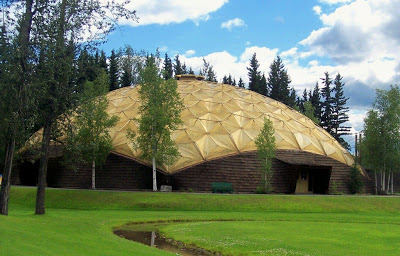 The Gold Dome housing the Pioneer Air Museum.
