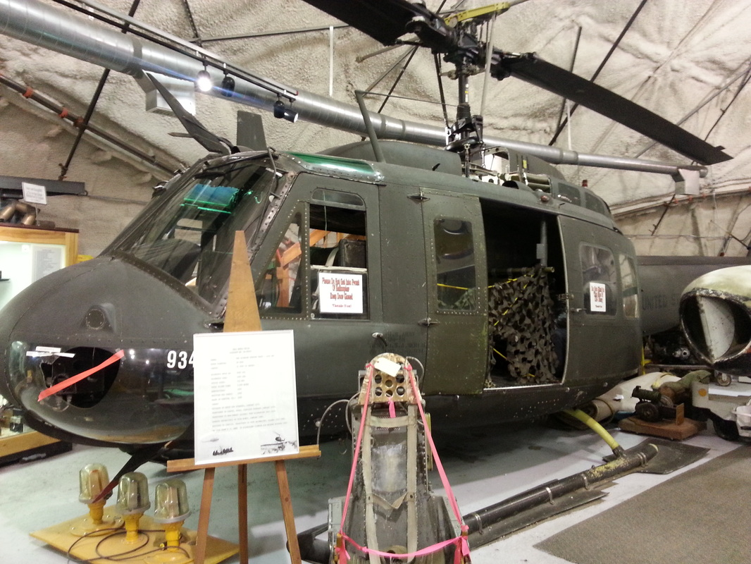 The Huey UH-1 military helicopter.