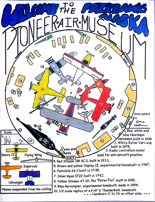 Map of the Pioneer Air Museum