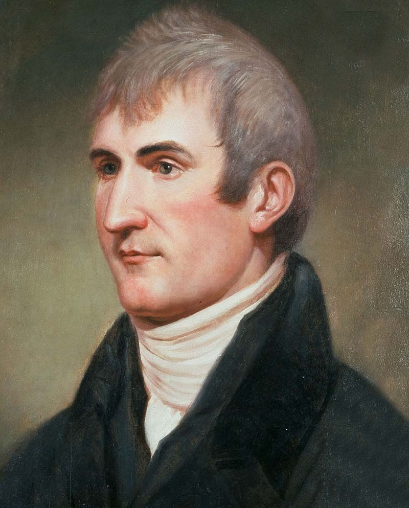 Charles Wilson Peale portrait of Lewis when the latter was the 2nd governor of the Louisiana Territory (1807-1809)