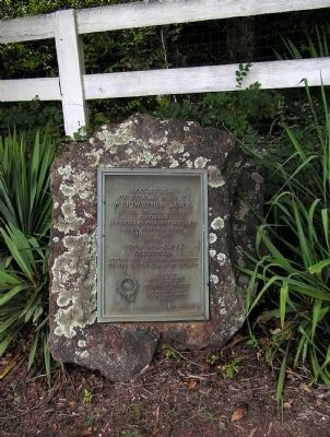 In 1922, the Daughters of the American Revolution left this plaque outside of Locust Hill in Lewis's memory