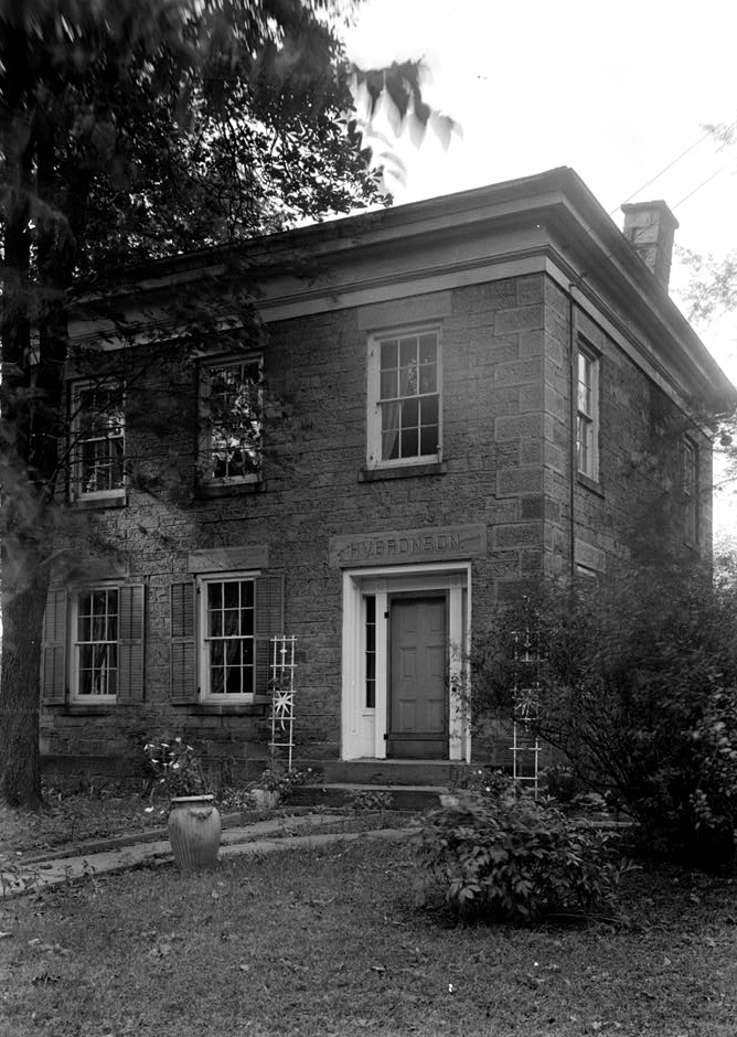 The Bronson house photographed in the 1930s. This image comes from the Library of Congress.