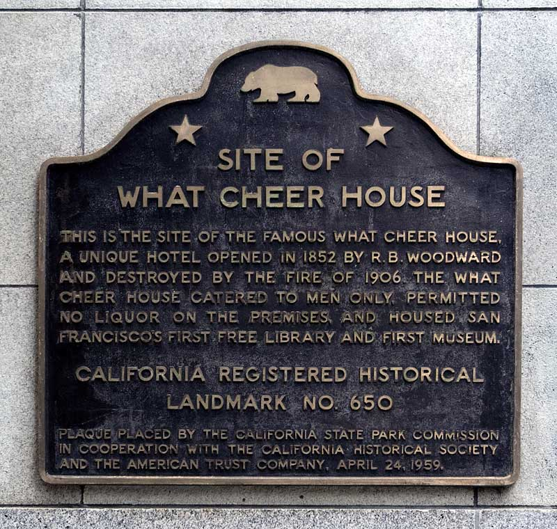 Plaque located on the Wells Fargo building in Leidesdorff Alley [http://noehill.com]