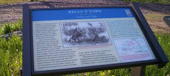 A recently installed marker about the skirmish