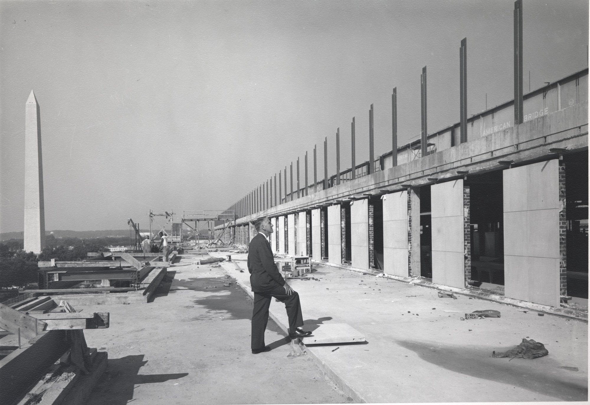 The museum, then named the Museum of History and Technology, under construction in 1962. Photo courtesy of the Smithsonian Institution Archives.