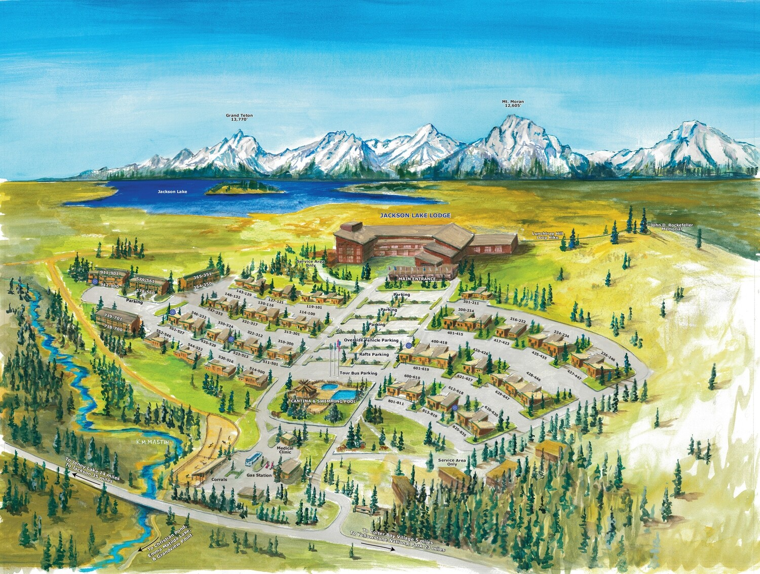 A map of the lodge complex.