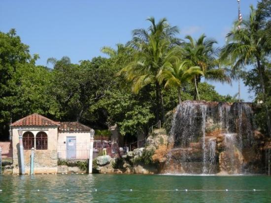 The waterfall at the Venetian Pool.