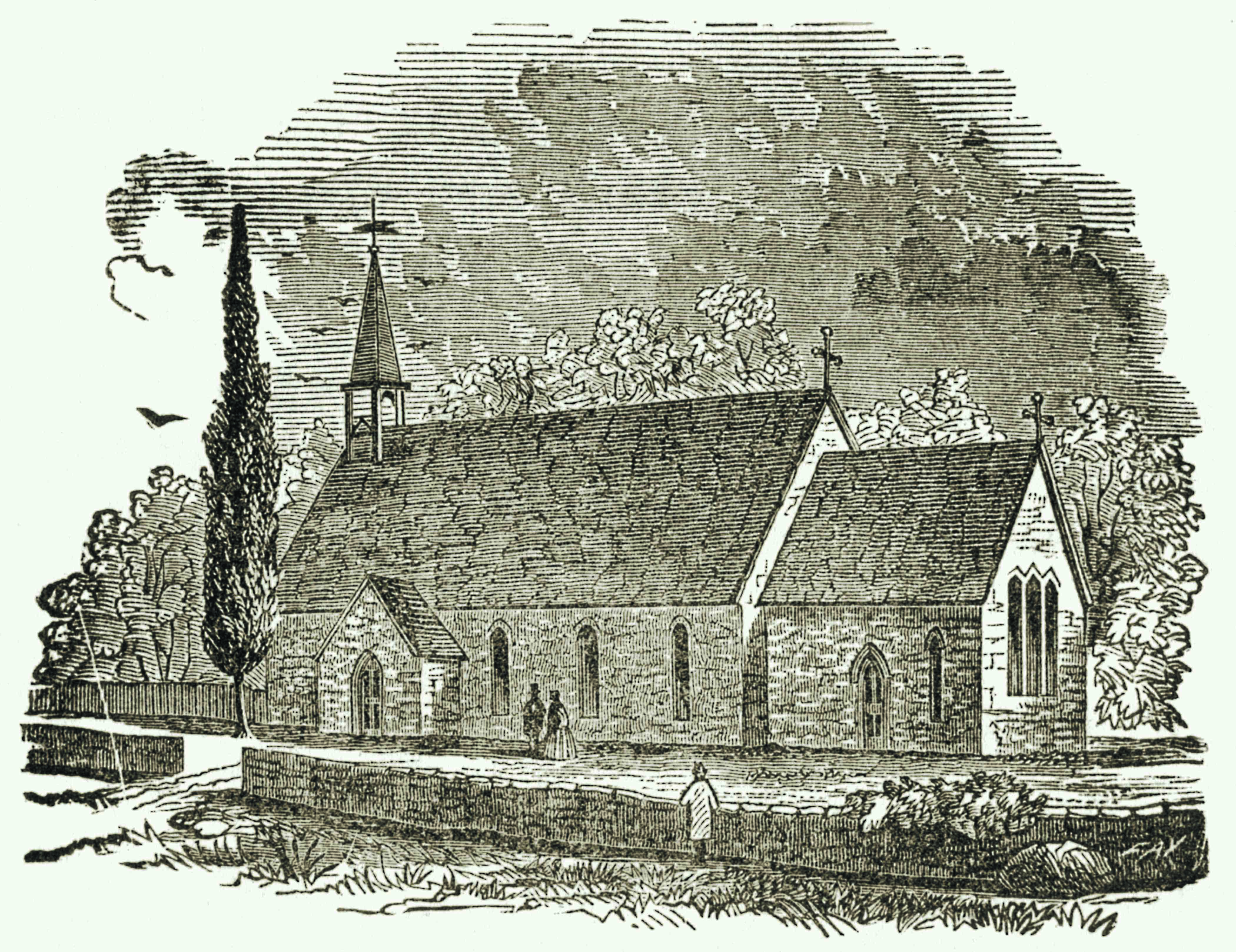 Drawn picture of the All Saints' Church