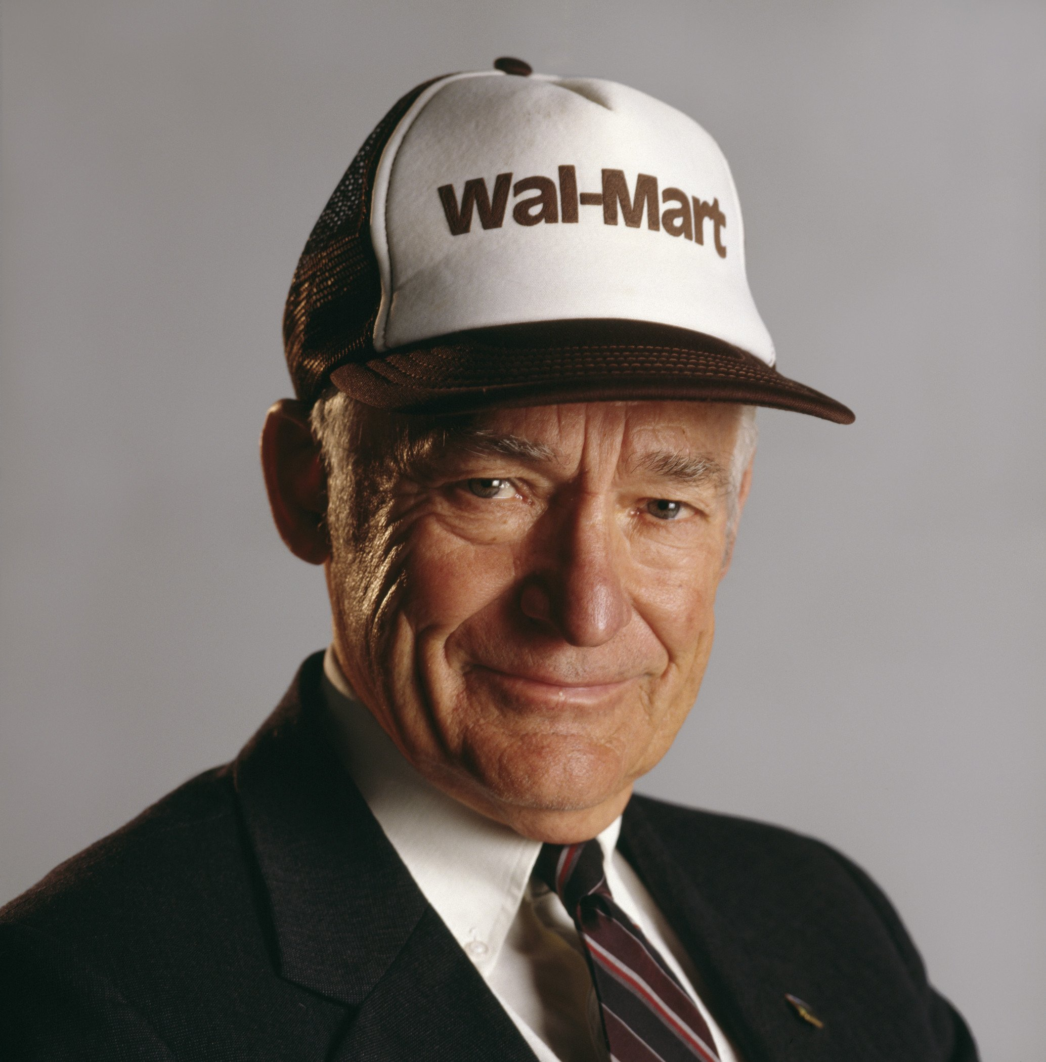 Sam Walton (1918-1992) went from being the owner of a small chain of stores to the largest retail company in the world. Image obtained from Fortune magazine.
