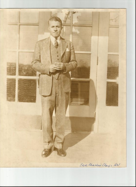 Principal Earl Charles Clay in 1935