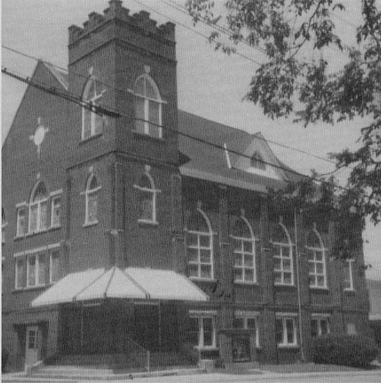 St. Paul Baptist in the late 1920s. Same angle as picture above.