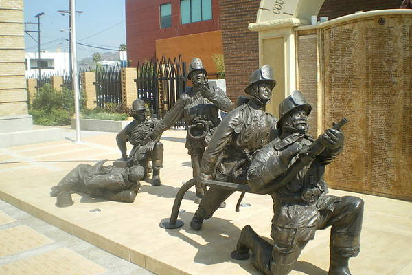 The memorial to fallen fire fighters