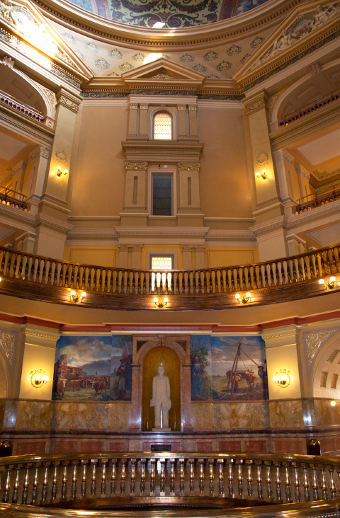 The rotunda inside the State Capitol