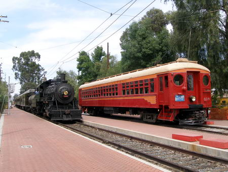Two of the train cars at the museum