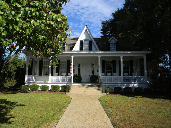 Poet and Musician Sidney Lanier was born in this home in Macon, GA.