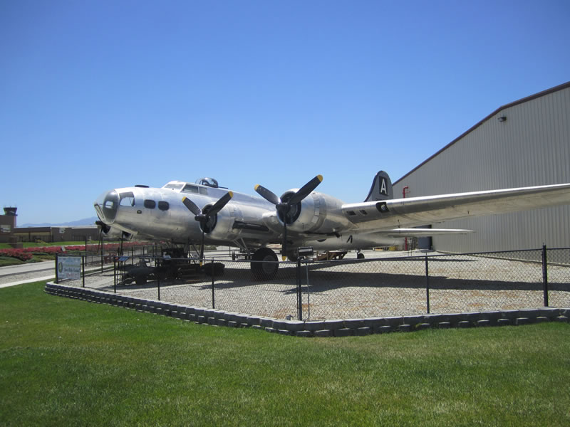A B-17 Bomber on display at the museum.