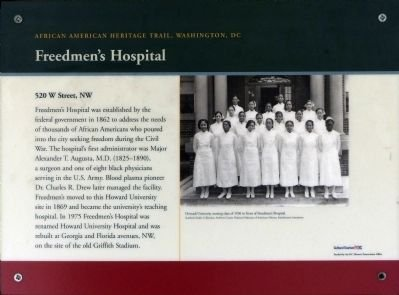 Freedmen's Hospital Marker - located at the front entrance of Howard University Hospital.