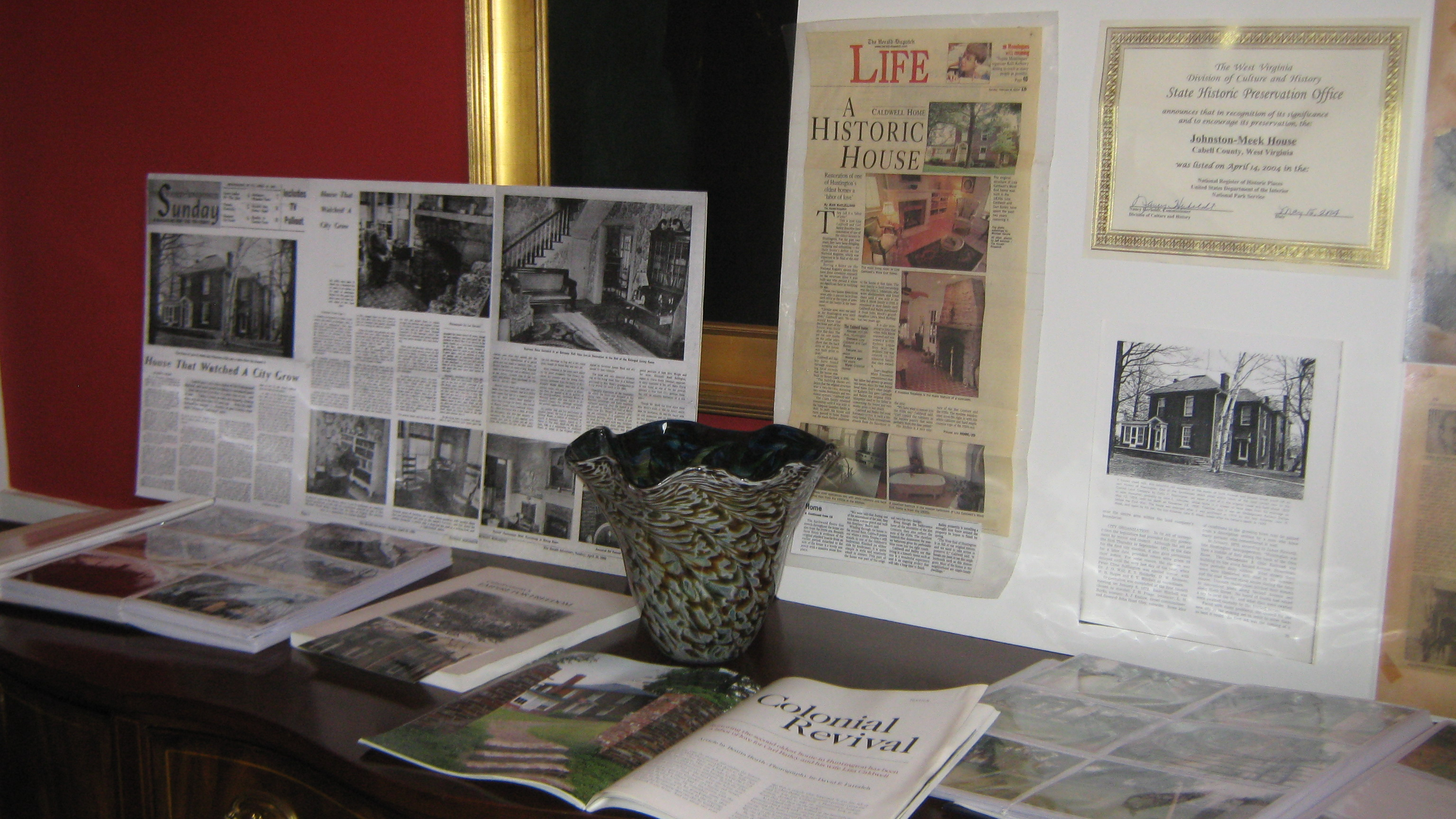 Memorabilia relating to the history of the house, now preserved for visitors.