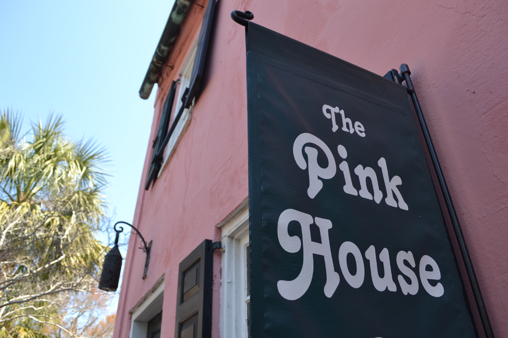Pink House Gallery Sign