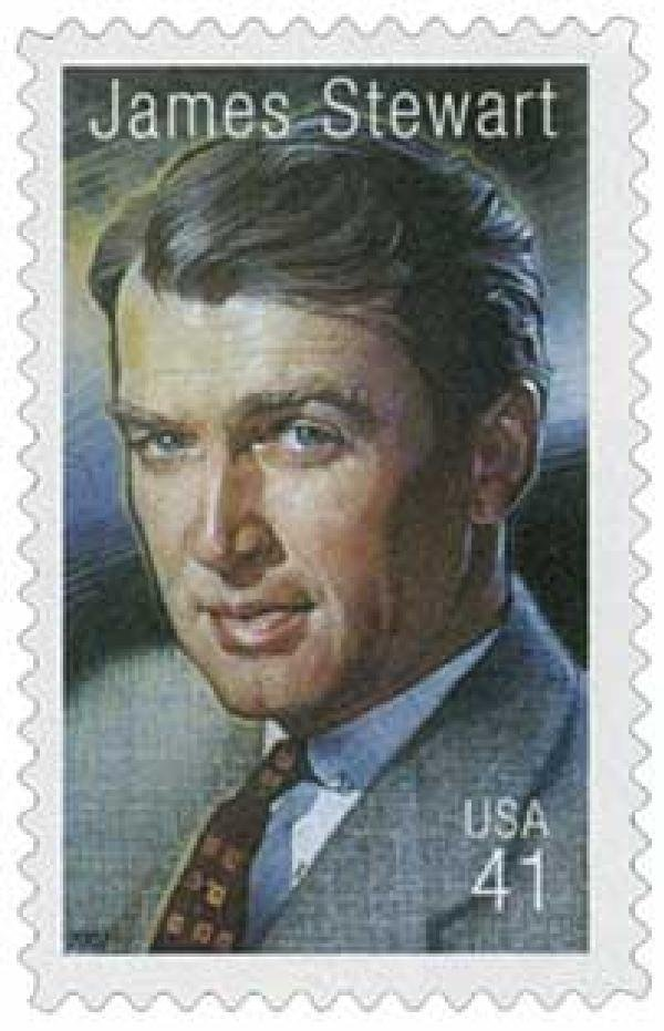 In 2007, Jimmy Stewart was honored with a stamp as part of the Legends of Hollywood Series along with other famed actors such as Gary Cooper and James Cagney. The stamp was first issued in Universal City, 30 minutes away from his Beverly Hills home.