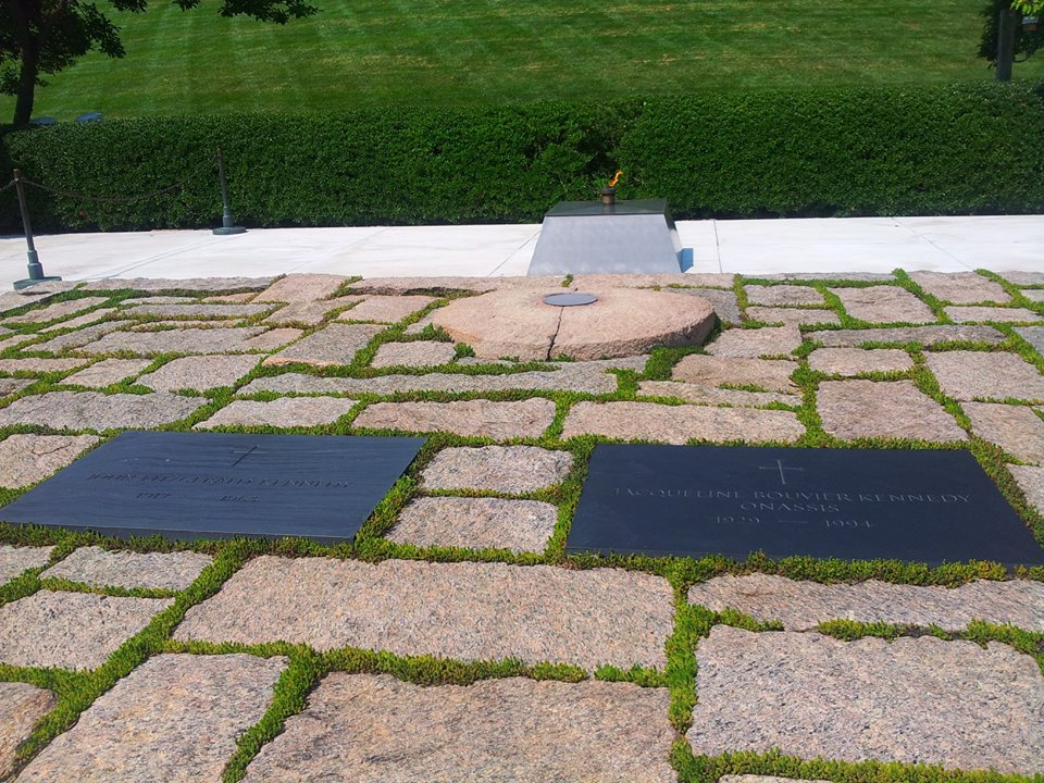 Grave of John F. Kennedy and Jacqueline Bouvier Kennedy Onassis