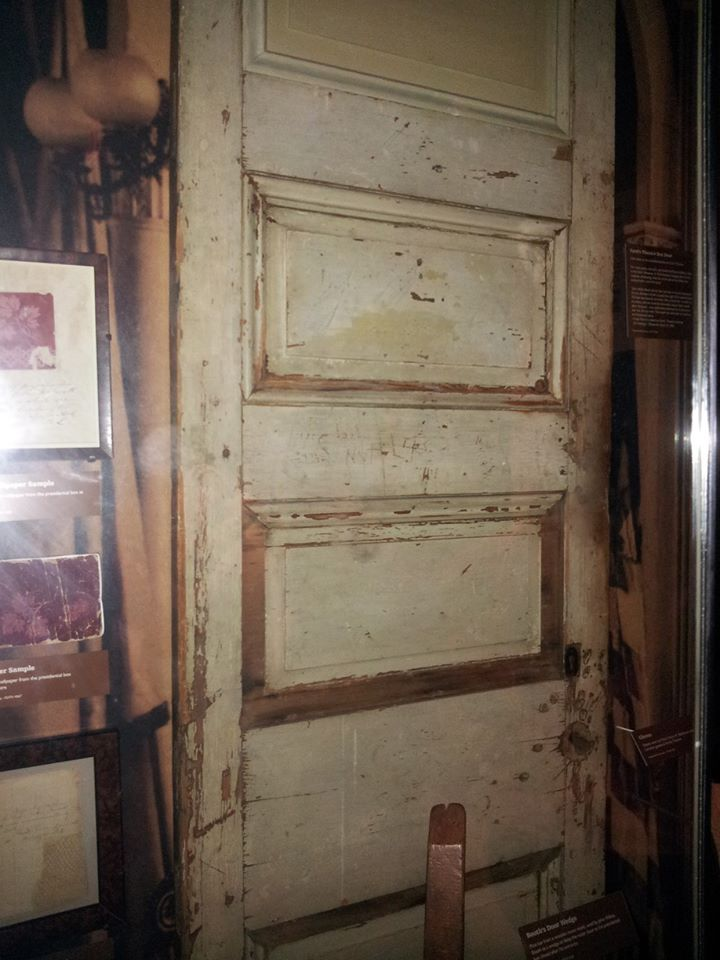 Door to the Presidential Box at Ford's Theatre when President Lincoln was assassinated. Photo Courtesy of Laura Maple