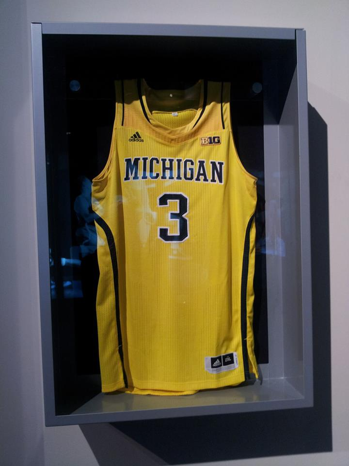University of Michigan Men's Basketball Jersey. #3 Trey Burke. Photo Courtesy of Laura Maple.