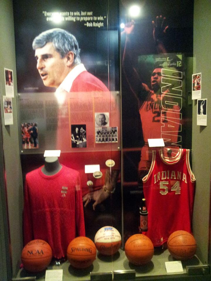 Bob Knight and University of Indian Men's Basketball Display. Photo Courtesy of Laura Maple