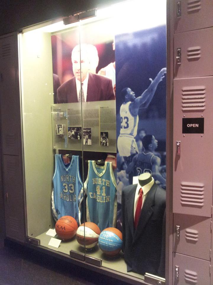 Dean Smith and University of North Carolina Men's Basketball Display. Photo Courtesy of Laura Maple