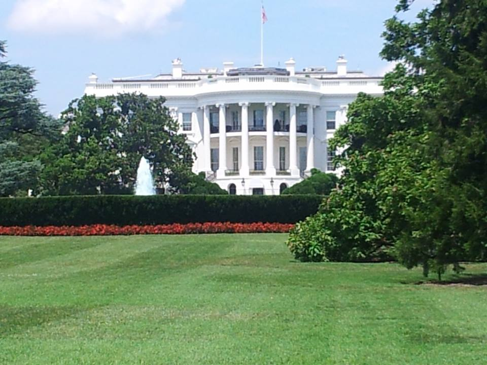 South view of the White House facing the Ellipse, also known as President's Park South. The park was designed by Pierre Charles L'Enfant, who laid out the city of Washington in 1791. Photo by Laura Maple