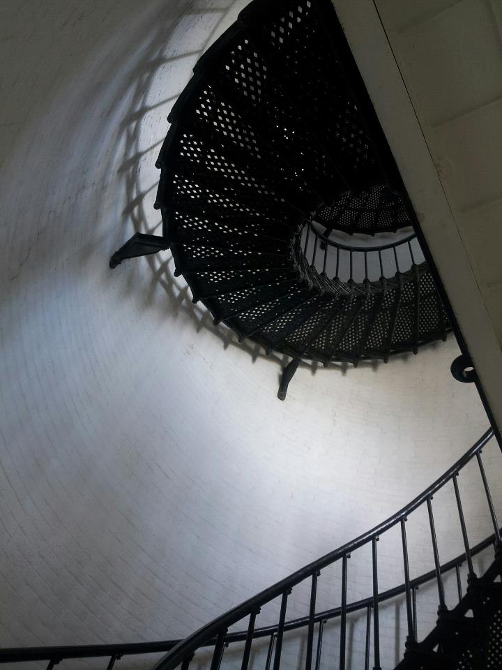 Winding stairs inside the lighthouse. Photo by Laura Maple