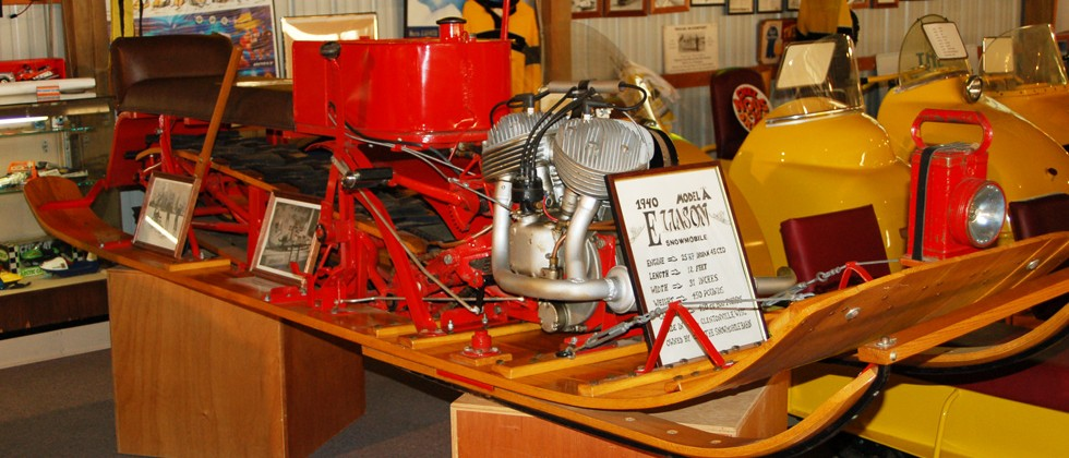 1940 Eliason Model A Snowmobile at the Museum