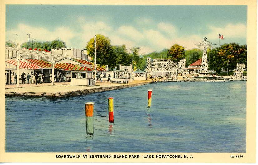 Bertrand Island Amusement Park Postcard