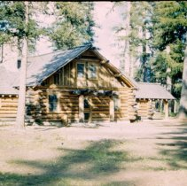 Buildings constructed by the CCC are still in use at Camp Paxson. The cabins are frequently used by Boy Scouts troops, and members of the public can rent some of the buildings for special events.(Photo 1943)