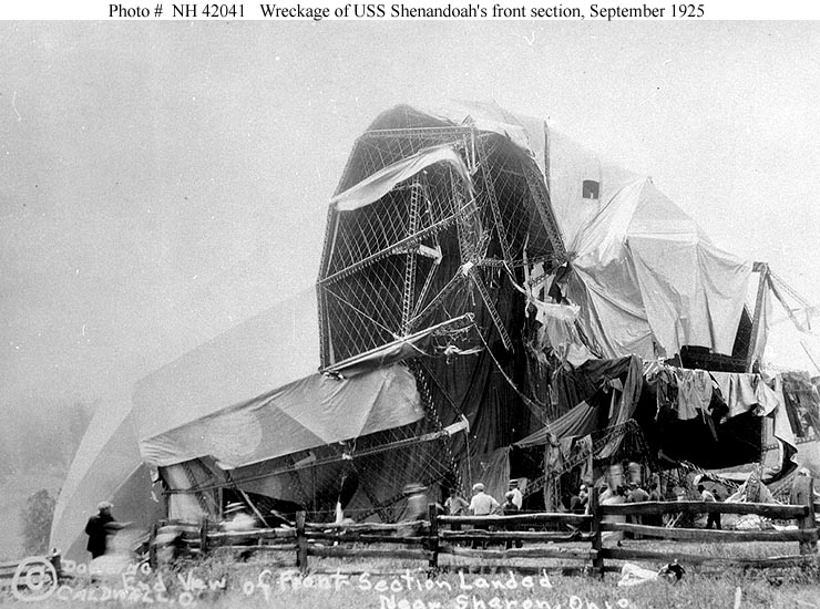 The USS Shenandoah was 680 feet long with a maximum diameter of 78.7 feet and maximum height of 93 feet.