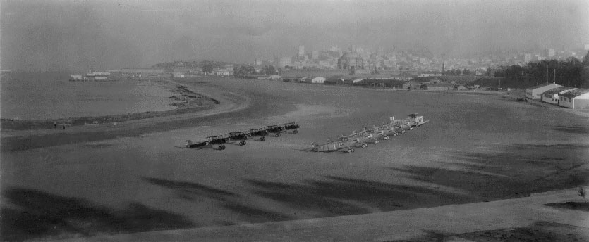 Planes lined up at Crissy Field