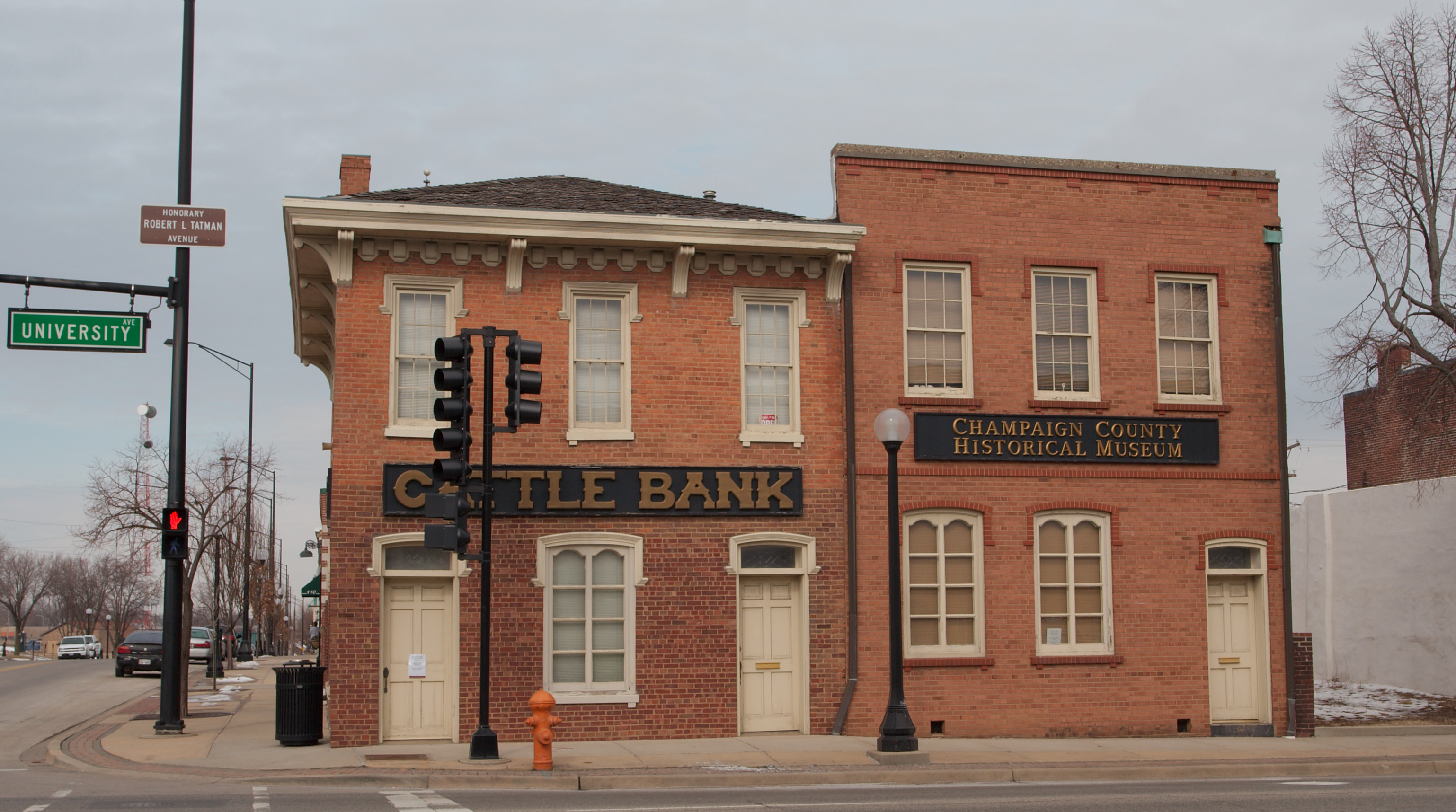 The museum is currently housed in the oldest known commercial building in Champaign County: Cattle Bank, built in 1857.