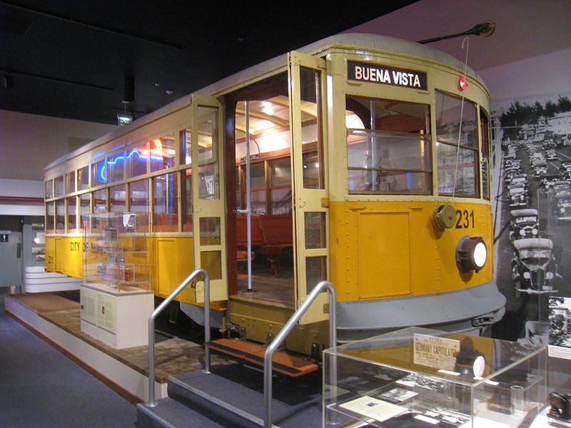 Former tram car from Miami featured at HistoryMiami