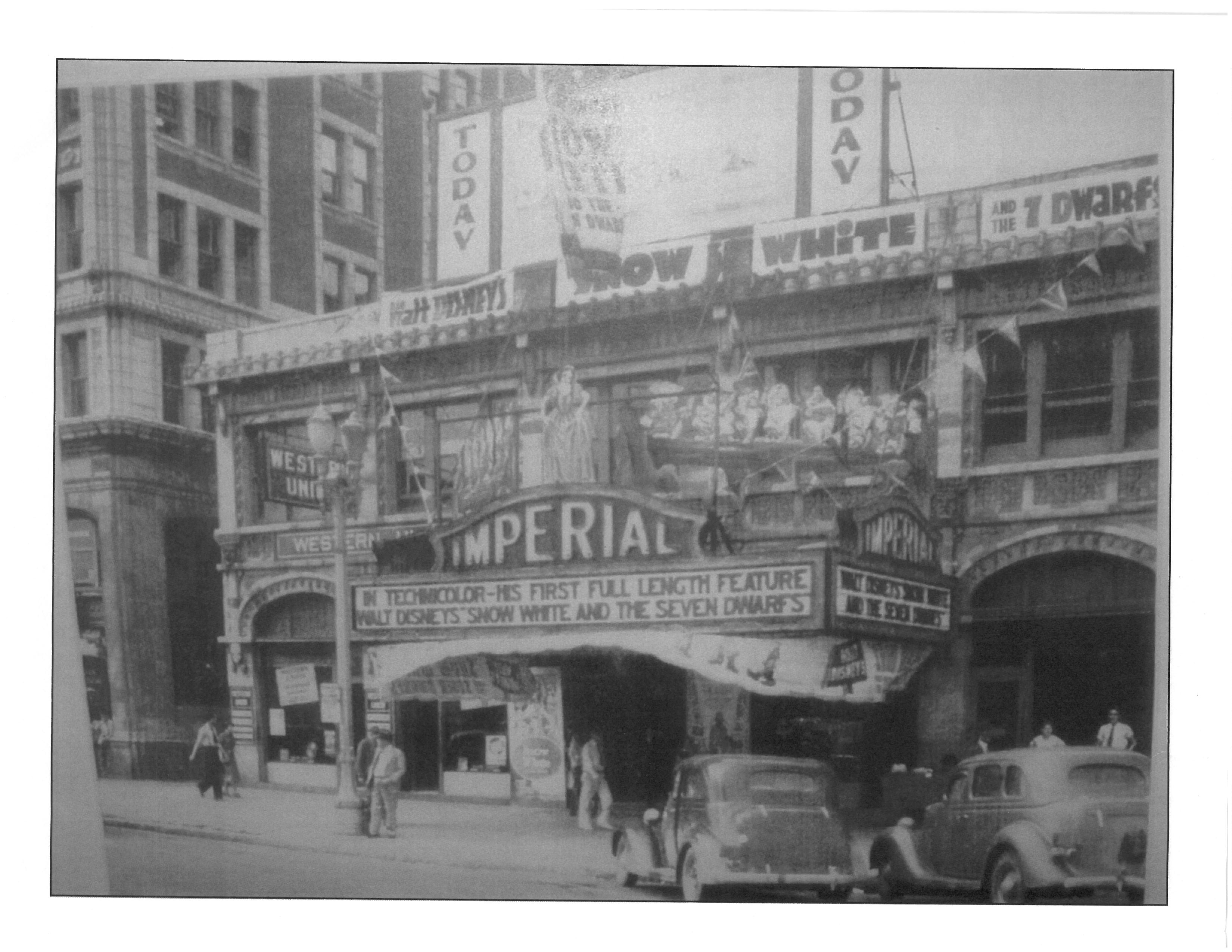 Original Marquee of Imperial Theater