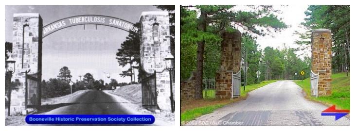 Entrance gate to the sanatorium.