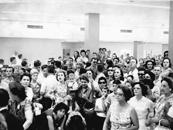 Cuban refugees in Miami after air lift, 1961