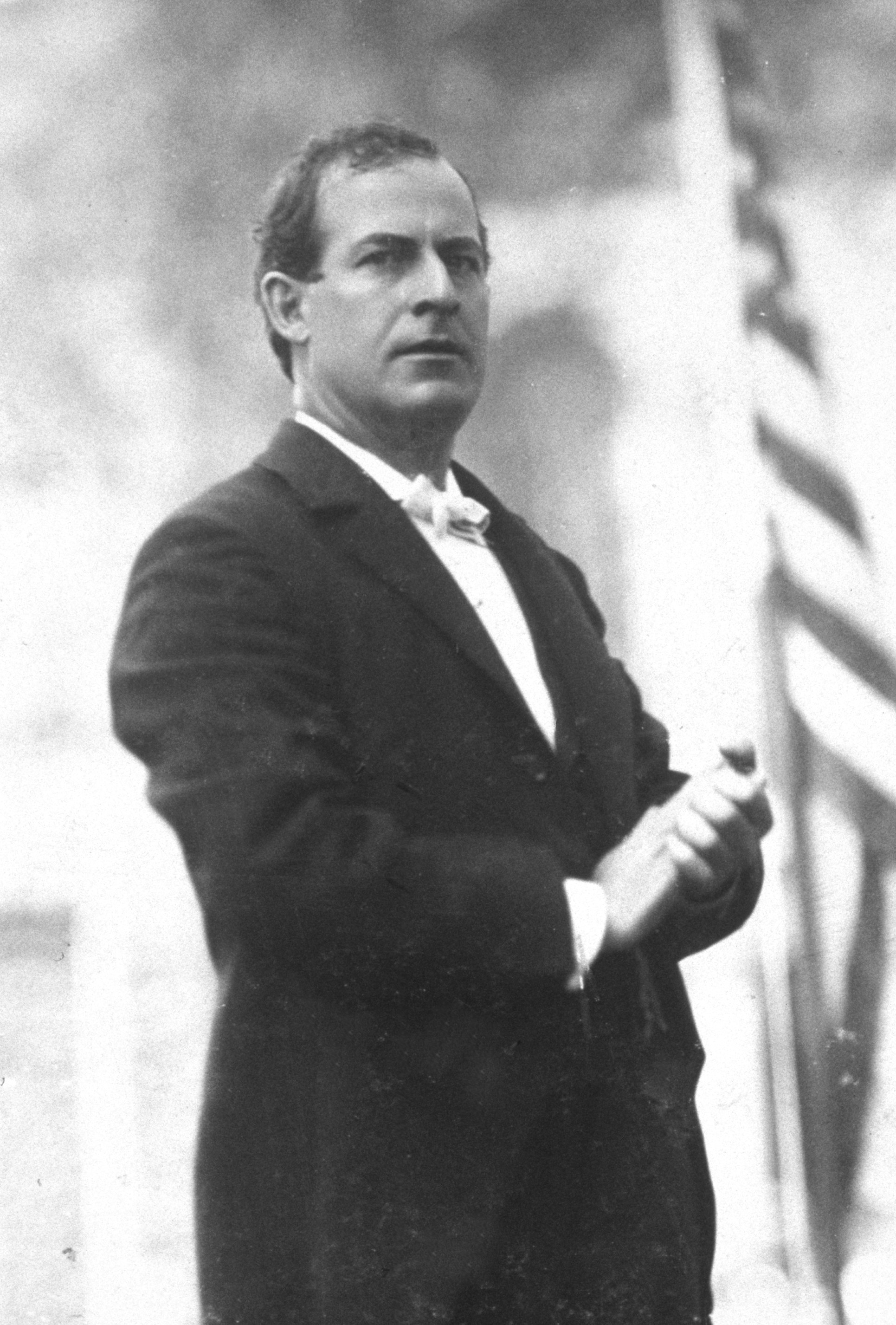 Bryan campaigning for President, October 1896.